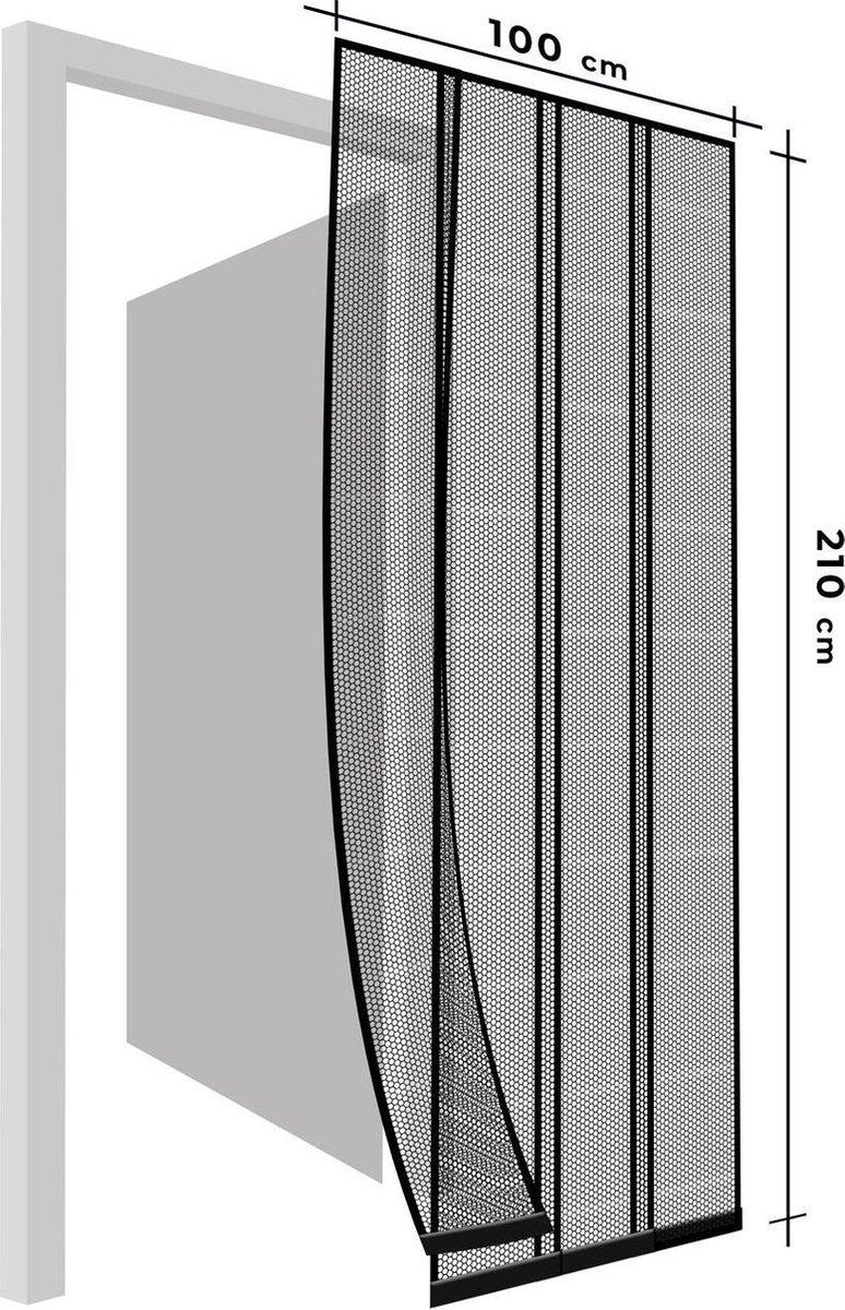 Delight - Vliegengordijn voor Deur - 4 Laags - Zwart - Zelfklevend - Op lengte te maken!