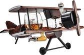 Whisiskey ® Decanteerkaraf - Klassiek Vliegtuig - Luxe Whiskey Karaf Set - 0,8 L - Incl. 9 Whisky Stones, Schenktuit, Tap & 2 Glazen