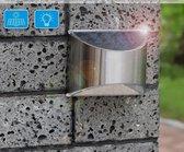 Solaire RVS | 2020 model | roestvrijstalen buitenverlichting | Tuinverlichting op zonne-energie | RVS buitenverlichting | LED | Solar Lamp | Warm wit licht