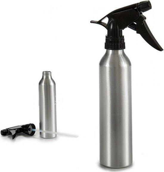 Metalen Sprayflacon Leeg Zilver - 1x 300ML - RVS - Sprayflesje Metaal - Spuitfles - Sprayfles - Water Verstuiver - Spray Bottle