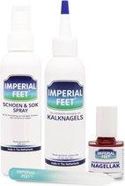Imperial Feet® Kalknagel Kit - Pedicure Kalknagelbehandeling & Zuurstofdoorlatende Nagellak Rood & Schoenspray