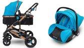 Mio Amore 3 in 1 kinderwagen Milano incl. autostoel (Blauw)