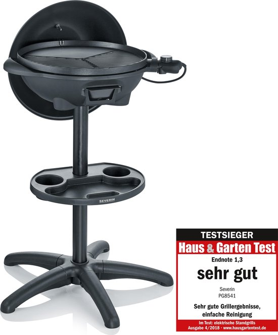Severin PG 8541 Grill Kookunit Electrische Barbecue - 2000W - Zwart