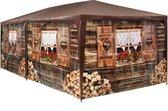 tectake - paviljoen Alpenhut 6x3m met 6 zijdelen - 402985