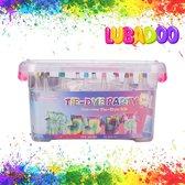 LUBADOO - Tie Dye Kit 18 kleuren- Tie Dye Paint - Tie Dye Kit Verf - Tie Dye Kit - Tiedye - Tiedye Kit - Tiedye Verf - Tiedye Set - Tie Dye Verf Premium Kwaliteit