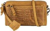 BURKELY Croco Cody Minibag Crossbodytas - Geel
