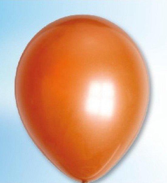 Ballonnen parel metallic koper (12,5cm, 100st)