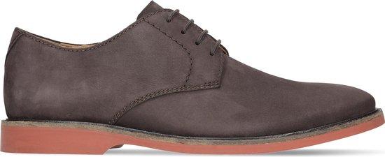 Clarks - Heren schoenen - Atticus Lace - G - dark brown nub - maat 8,5