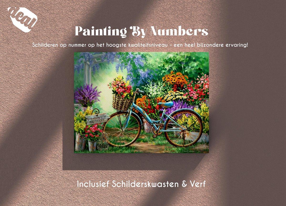 Deal Diamond Painting Schilderen Op Nummer Voor Volwassenen Inclusief Lijst, Canvas, Schilderskwasten & Verf - 40 x 50 cm - Bycicle