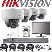 Hikvision Beveiligingscamera - Inclusief Monitor/Kabels/Poweradapter