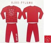 Ajax - Pyjama - Club Kleuren - Amsterdam - Voetbal - Maat 152/158