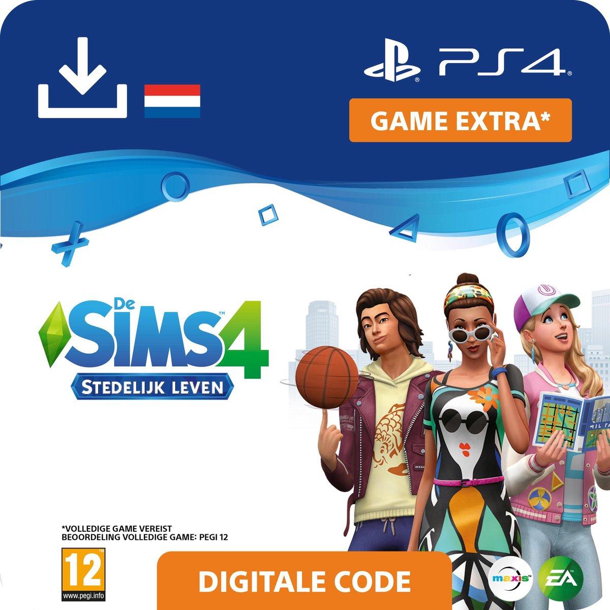 De Sims 4 - uitbreidingsset - Stedelijk Leven - NL - PS4 download