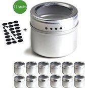 BanGosa® RVS magnetisch Kruidenrek - Kruidenpotjes - kruidenrekje - specerijenrek 12 stuks