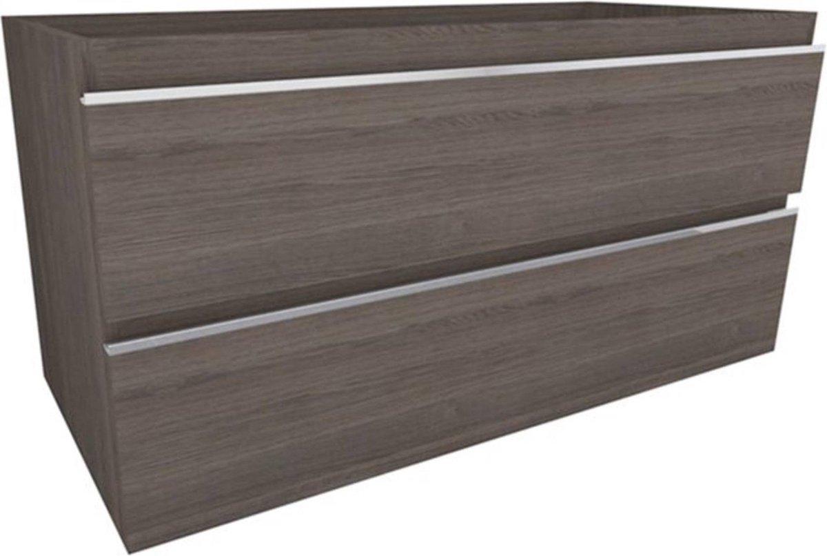 Saqu Wastafelonderkast 100x45,5x50 cm Houtnerf Grijs
