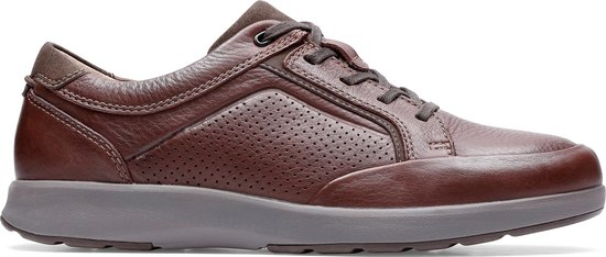 Clarks - Herenschoenen - Un Trail Form2 - G - mahogany leather - maat 9,5