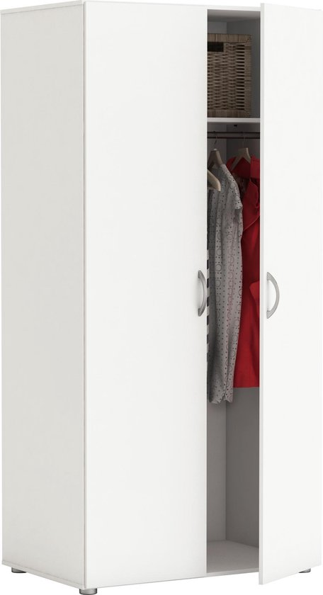 Belfurn-2 deurs hang kledingkast Zippie 2 wit