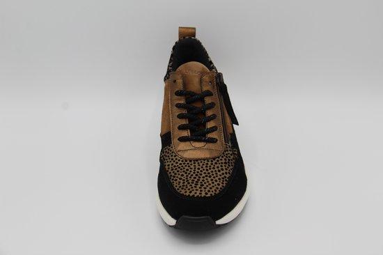 Muoviti sneaker- zwart brons breedte H maat 38,5