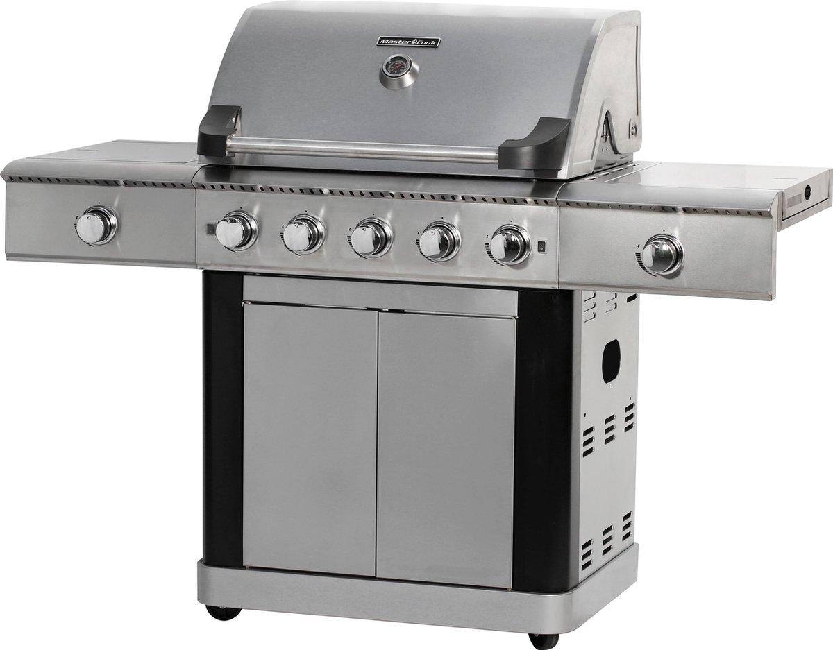 Gasbarbecue en Grill - 5+1+1 branders RVS
