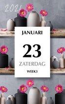 Dag scheurkalender MGPcards 2021 - Scheurkalender - 1 dag/1 pagina - Gerbera - 21 x 34 cm