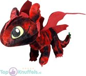 Hoe tem je een draak / How to train your dragon Rood Toothless Draken Pluche Knuffel 30 cm | Black Dragon and Friends | Toothless, Night Fury, Stormfly, Meatlug, Boneknapper, Gronckle, Hookfang | Draak Plush | Speelgoed voor kinderen