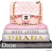 60 x 80 cm - glasschilderij - Chanel - fashion merken -