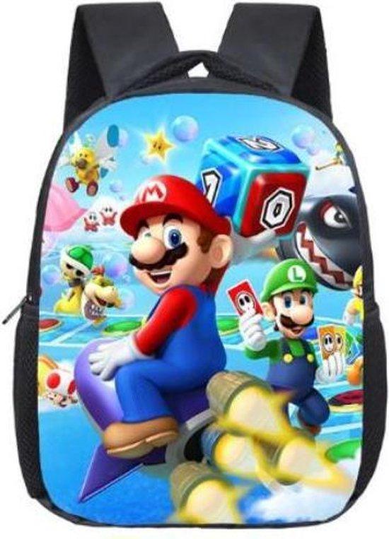Mario rugzak spelletjes - kinderen - kinderrugzak - rugtas - tas - schooltas - 35x29 cm (lxb)