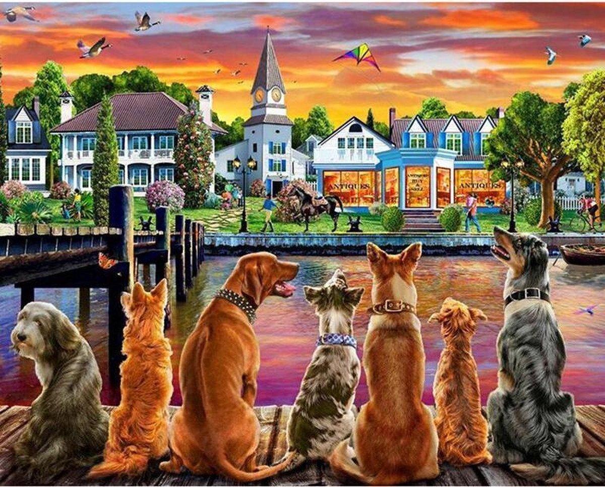 Diamond Painting Volwassenen - Honden - Diamond Painting Dieren - Volledig Pakket - Hobby Pakket - 30x40 cm