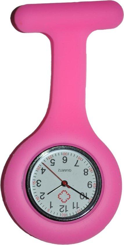 Unisex – Verpleeg horloge – Verpleegsterhorloge – Zusterhorloge – Siliconen – Roze