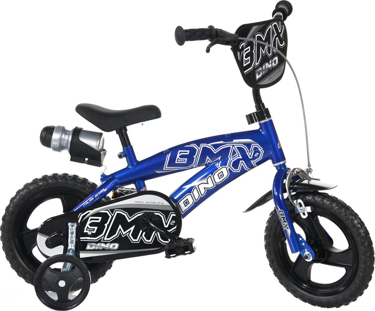 Dino Bikes Kinderfiets BMX Blauw & Zwart: 12 inch online kopen