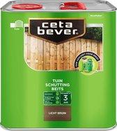 CetaBever Tuin Schutting Beits - Waterafstotend - Licht Bruin - 2,5 liter
