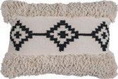 Kussen Lenny - Black - 40 x 60 cm - Trend - Berber - Bohemian