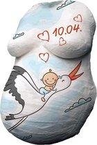 Gipsbuik   Inclusief 12 kleuren verf   gipsbuik pakket   gipsverband   gipsbuik baby   gips voor buik babyshower   gipsafdruk buik   Met extra groot gips, 12 kleuren verf, handige tips en een uitgebreide Nederlandse handleiding