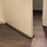 Rori - Dubbele tochtrol - Aanpasbaar - 95 cm - Grijs