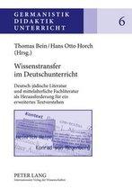 Wissenstransfer Im Deutschunterricht