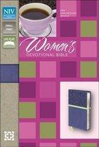 NIV, Women's Devotional Bible, Compact, Imitation Leather, Blue