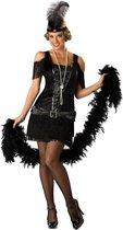"""Zwart Charleston kostuum voor dames - Premium - Verkleedkleding - Medium"""