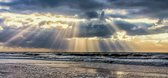 Foto op Canvas, Ray's of Light (120x50cm)