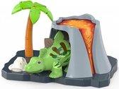 Digi Dino met vulkaan