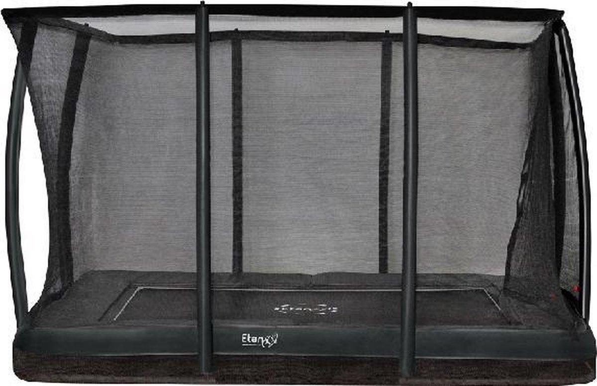 Trampoline Etan Inground Premium Gold Combi Deluxe set 310 x 232 cm - inc. Deluxe Veiligheidsnet - Grijs - Rechthoekig