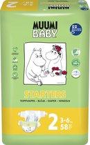 Eco Muumi Baby luiers maat 2 - 3-6 kg - 58 stuks - ecologisch