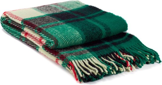 MOST Wollen plaid Hamilton - Plaid/Deken - 100% wol - groen