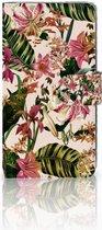 LG K10 (2017) Bookcase Hoesje Flowers