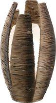 Eglo Mongu Tafellamp - 1 Lichts - Ø190mm. - Bruin, Wit