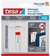 Tesa - 77777 - verstelbare klevende spijker voor behang en pleister - tot 2kg - 8x 2 stuks
