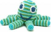 Pebble rammelaar - Octopus - groen