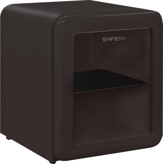 Koelkast: Temptech HRF46RBGLASS- mini koelkast - 26 liter - zwart met glazen deur, van het merk Temptech