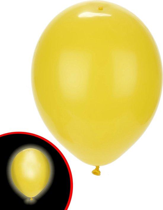 Illooms LED Ballonnen Geel - 5 Stuks