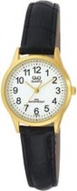 Dames horloge van het merk Q&Q -Zwart leren band-C179J104Y