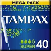 Tampax Super Tampons - 40 Stuks - Met Inbrenghuls