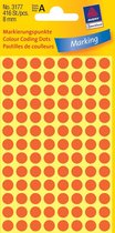 Huismerk Avery 3177 Ronde Etiket 8mm Licht Rood